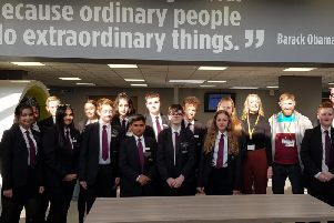 Year 9 student leaders with Chris Sylvester and Natalie Wells of The Howarth Foundation