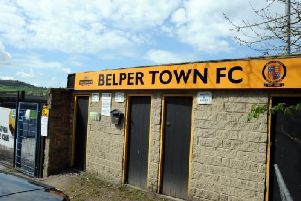Pictured is Belper Town FC's ground, on Bridge Street, Belper.