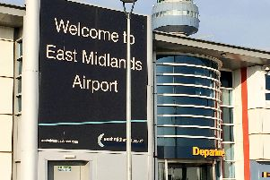 East Midlands Airport.