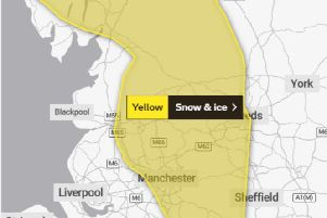 Yellow warning for snow and ice.