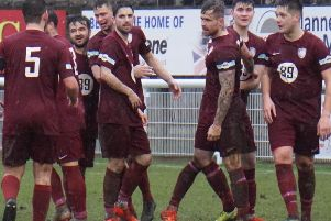 Celebrations for Worksop Town.