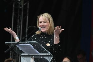 Labour leadership contender Rebecca Long-Bailey visited Mytholmroyd on Monday
