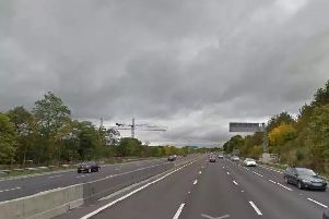 A rolling road block was put in place on the M1