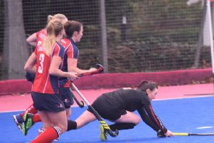 Lisa Crewe goes for goal at Sheffield Hallam