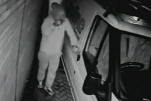 CCTV image from the break-in on Harewood Avenue.