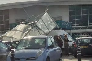A pedestrian was seriously injured in a collision on the car park at Asda in Handsworth, Sheffield, yesterday