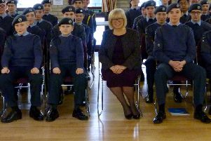 North Tyneside MP Mary Glindon joins 2344 (Longbenton) Squadron to mark 78 years of the Air Training Corps.