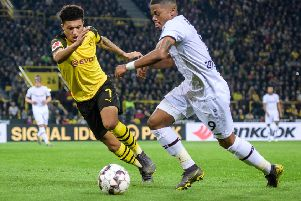 Jadon Sancho is said to be a target of Manchester United. (Photo by J�rg Sch�ler/Getty Images)