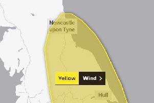 Gales forecast as yellow weather warning still in place across East Midlands. Picture: The Met Office