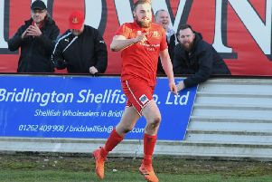 Jake Day scored both Brid Town goals at Albion