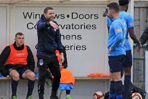 Andy Welsh hands out instructions. PIC: John Hirst.