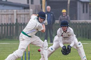 Alfie Jacobs hammered a superb 115 to help Whitby 2nds to a winning draw against Bishop Auckland 2nds in Division Three of the North Yorkshire South Durham League ''''PICTURE BY BRIAN MURFIELD