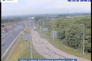 M1 junction 25 this morning.