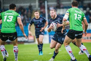Action from Featherstone Rovers v Widnes Vikings. PIC: James Heaton.