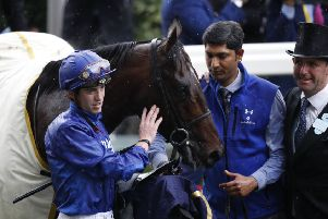 Sprinter Blue Point and jockey James Doyle who go for a rare Group One double on the last day of Royal Ascot. (PHOTO BY: Adrian Dennis/Getty Images)