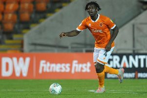 Rocky Bushiri had a mixed night on his Bloomfield Road debut