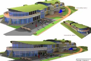 The proposed restaurant and apartments