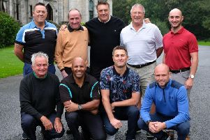 The quarter-finals of the Gazette Matchplay (sponsored by Blacktax) were held at Lancaster Golf Club. Back, from left: Daryl Prance (Herons Reach), Phillip Smitham (Lytham Green Drive), Ian Wharmby (managing director Blacktax), Glenn Riches (Fleetwood) and Kevin Keating (Lytham Green Drive). Front, from left: Steve Norwood (Herons Reach), Richard Anderson (Lytham Green Drive), Rob Higgins (Herons Reach) and Darren Frame (Herons Reach).