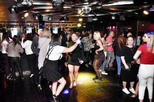Stock picture of dancers in a nightclub