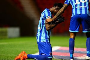 Armand Gnanduillet celebrates his 93rd-minute winner