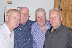 George Darch, Keith Barkworth, Phil Dell and Paul Southwell at the Fleetwood Fishermen's Reunion.