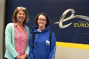 Gina Dowding MEP with Isobel Deady