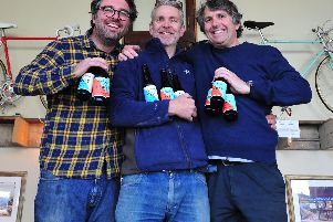 Cheers to the UCI cycling championships - Cold Bath Brewery Co co-owners Mick Wren, Jim Mossman and Roger Moxham whose independent Harrogate bar is supporting the UCI's cycling championships.