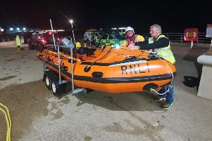 Blackpool RNLI were called out to a rescue mission close to central pier just after midnight