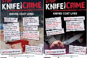Young people at the club worked with police and the council to create slogans for a new anti-knife crime campaign.