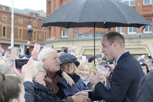 This photo of Prince William in Blackpool, taken by Gazette photographer Dan Martino, is up for a national award