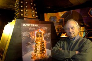 David Boyle pictured at his Dr Who Exhibition on Blackpool Promenade in 2004.'David has died aged 71