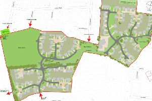 A plan of the proposed development