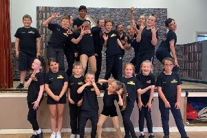Some of the children at Emma Louise Academy of Performing Arts