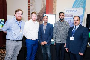 Blackpool Busienss Expo sponsors, IT support company Nybble at the event at The Village Hotel Blackpool