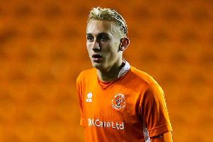 Ewan Bange scored twice in Blackpool's win at Tranmere last week
