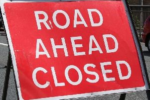 The A583 has been closed near the Bell and Bottle pub due to flooding