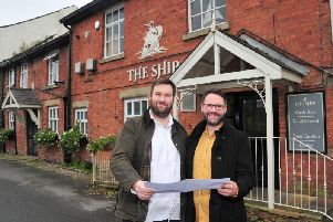 Ross Robinson discusses refurbishment plans for The Ship at Freckleton with his operations manager Jason Donnell