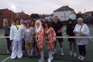 Some of the members of Norbreck Bowling and Tennis Club who dressed up for an ABBA-inspired fund-raising event