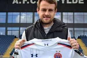 Left-back Andy Taylor has joined the Coasters on a short-term deal'Picture: AFC FYLDE