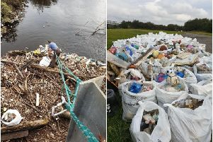 A team of good Samaritans risked their lives to clear thousands of pieces of plastic from the River Calder at Stanley Ferry this weekend.