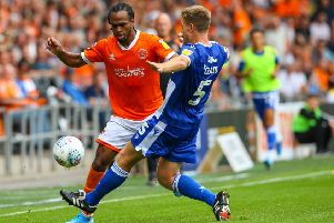 Nathan Delfouneso has been a significant absentee for Blackpool in recent weeks