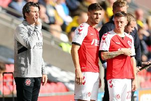 Fleetwood Town head coach Joey Barton