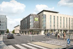 An image of the proposed Holiday Inn