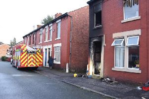 A mother and baby are lucky to be alive after their home in Penwortham went up in flames.