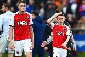 Harry Souttar and Ash Hunter were dejected following Fleetwood Town's loss to Ipswich Town