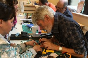 Transition Buxton's first Repair Caf� received a very positive response from residents in September, with dozens of items brought in and repaired by a team of 'fixperts'.