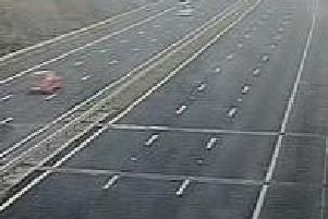 An empty northbound M6 on the right of the photo due to the closure (Image: Highways England)