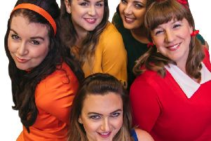 The cast in Shout the Musical