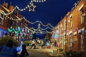 School Street in Tyldesley was transformed for the advert