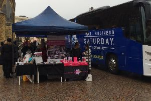 The Small Business Saturday bus in Blackpool